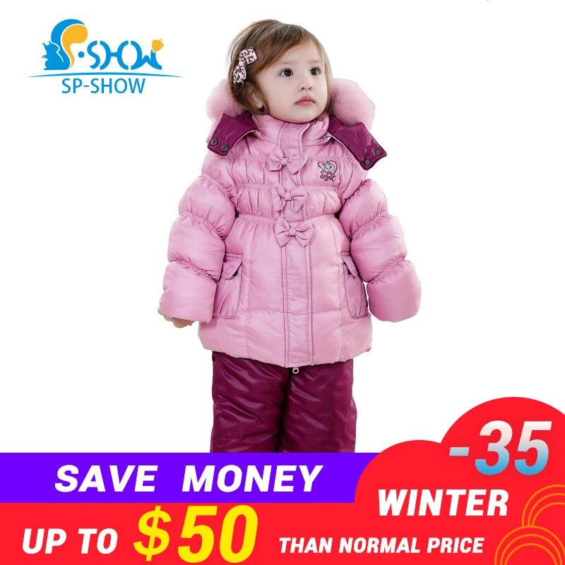 SP-SHOW D'hiver Enfants Costume Fille Super Costume De Mode Manteau Chaud Doublure Polaire Pour Garder Au Chaud Le Anti-peluche Pardessus 128202