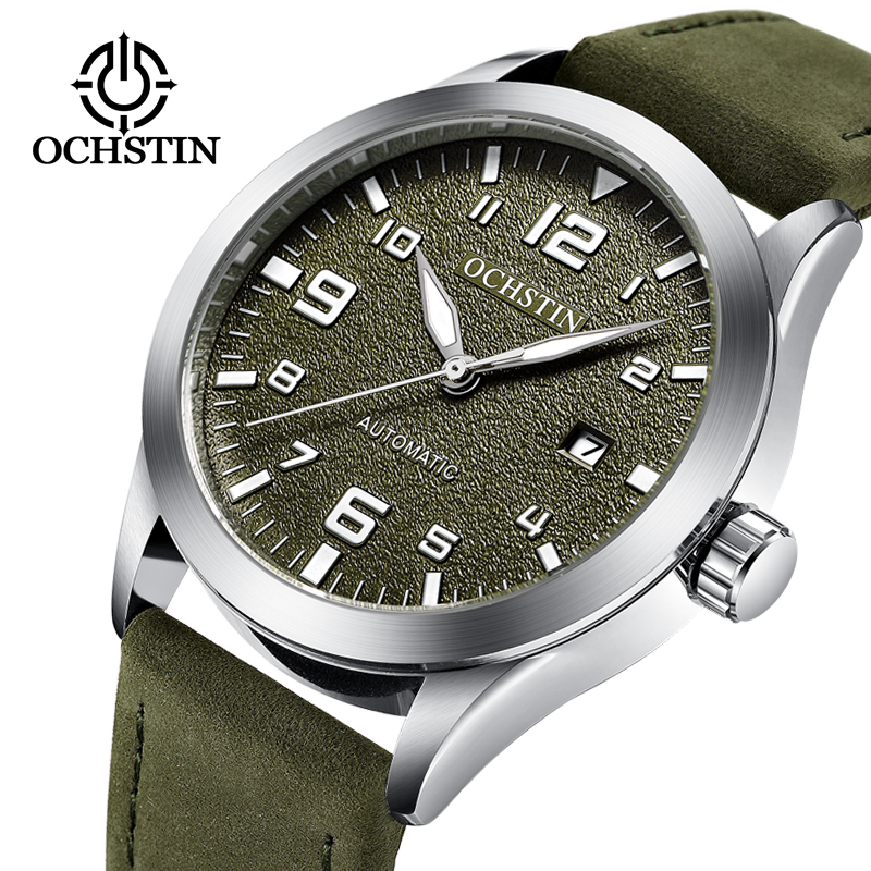 цена на OCHSTIN Luxury Brand Fashion Men Watch Sports Mechanical Watches Leather Strap Men's Automatic Watches Relogio Masculino Gift