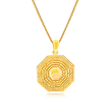 Gold Color Men Pendant Necklaces Yin And Yang Chinese Style Chinese People Usually Wear It For Exorcism Amulet Good Luck For You