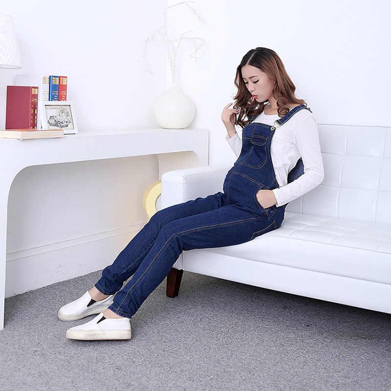2d52e4cb11d6 Denim Maternity Bib Overall Pants Jeans For Pregnant Women Clothes Pregnancy  Jumpsuits Suspenders Trousers Uniforms Jeans