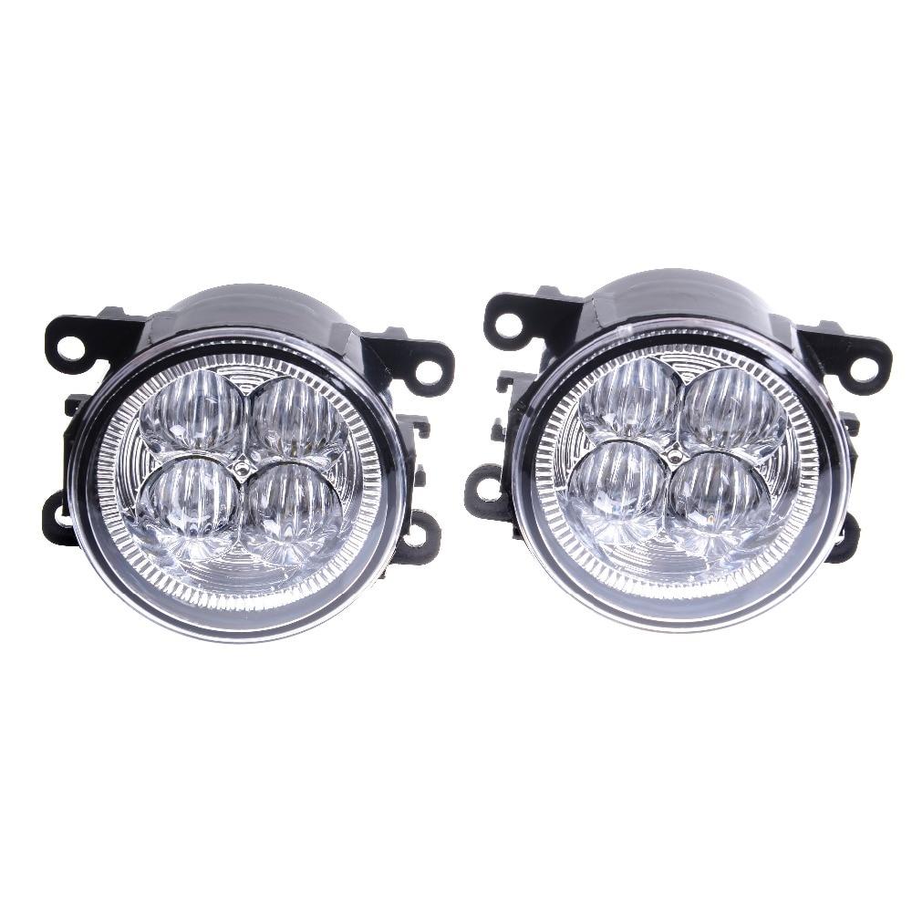 For DACIA Duster Sandero LOGAN 2004-2015 Car styling LED fog Lights General fog lamps 1set for lexus rx gyl1 ggl15 agl10 450h awd 350 awd 2008 2013 car styling led fog lights high brightness fog lamps 1set