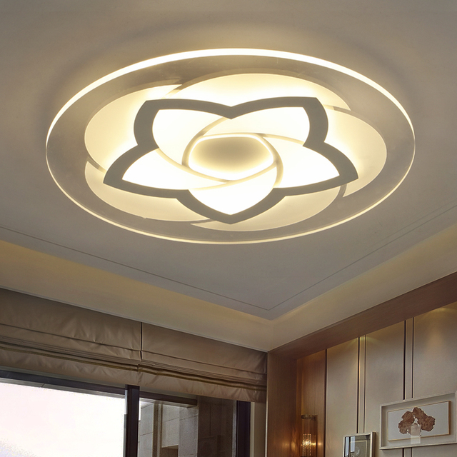 modern minimalist  circular ceiling lamps LED  acrylic study room bedroom lamp