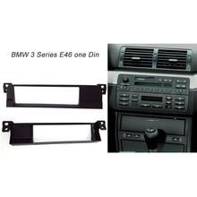 One Din Fascia For BMW 3 Series (E46) 1998-2005 Radio CD DVD Stereo Panel Dash Mount Trim Kit Surround Frame Plate