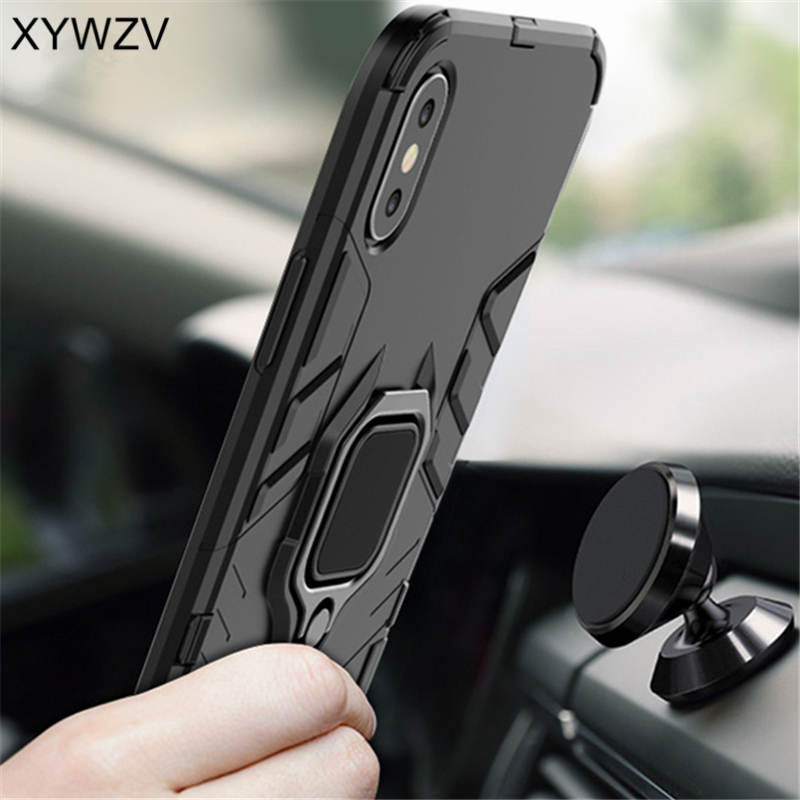 Image 3 - Vivo Y17 Case Shockproof Cover Armor Metal Finger Ring Holder Soft Silicone Hard PC Phone Case For Vivo Y17 Back Cover Vivo Y17-in Fitted Cases from Cellphones & Telecommunications