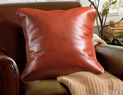 PU leather cushion cover PU leather pillow case sofa lumber pillow cover car home decoration