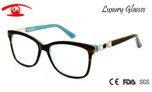 Brand Designer Vintage Spectacle Frames Women Luxury Rhinestone Eyeglasses Acetate Sexy Glasses Rx