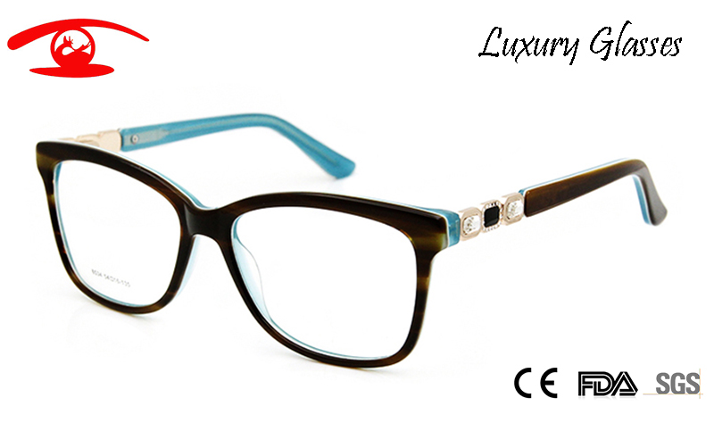 Brand Designer Vintage Spectacle Frames Women Luxury Rhinestone Eyeglasses Women Acetate Sexy Glasses Rx