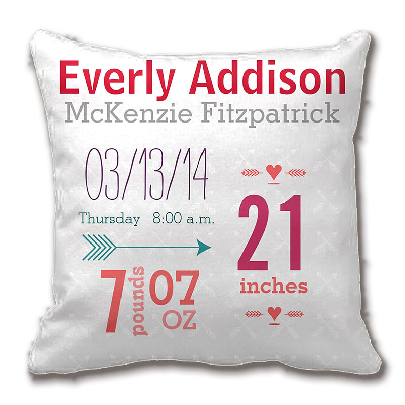 Boy S Nursery Room Baby Stat Arrow Pattern Throw Cushions Decorative Cushion Cover Pillow Case ...
