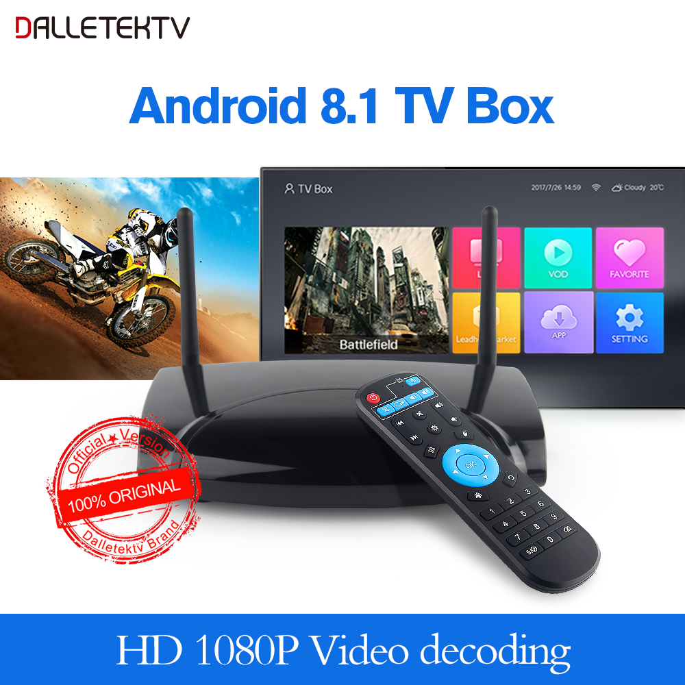 Leadcool R2 RK3229 Quad Core Android 8.1 Smart TV BOX prend en charge 2.4 GHz Wifi 100 M LAN 1 GB/2 GB 8 GB/16 GB 4 K lecteur multimédia Android Box