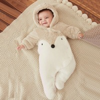Baby Rompers Winter Thick Warm Baby Hooded Jumpsuit Baby Girl Boy Rompers Overalls Winter Clothes Y813