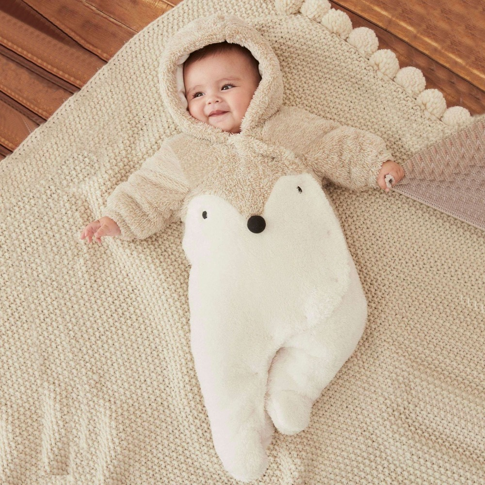Baby Rompers Winter Thick Warm Baby Hooded Jumpsuit Baby Girl Boy Rompers Overalls Winter Clothes Y813 baby products bebe girl bebe boy newborn clothes baby costume thick warm infant baby rompers kids winter clothes jumpsuit hooded