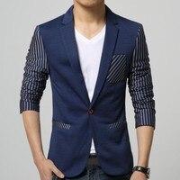 NEW Spring Casual Blazers Men Fashion Slim Fit Jacket Coats Male Stripes Designer Blazer Suit One