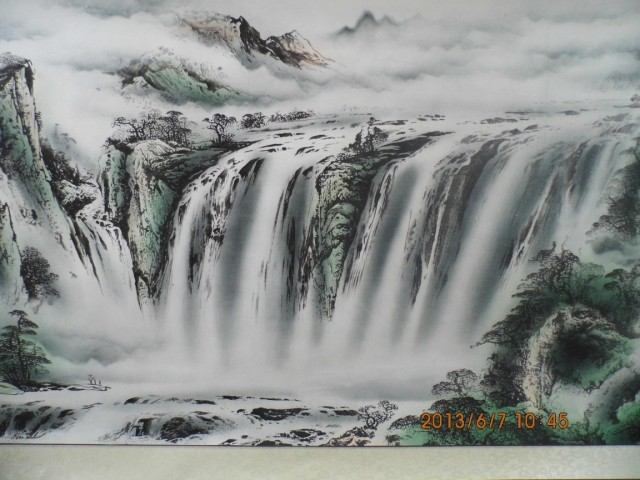 Chinese traditional painting,Chinese cultural landscape painting living room decoration painting High imitation goods rethinking multicultaralism – cultural diversity