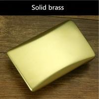 Retail New Style Solid Brass Blank DIY Belt Buckle For Men 7 8 5 0cm Rectangular