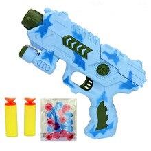 Мягкие Пули Gun безопасный пистолет Пистолет Пластиковые детские Игрушки ЕВА пуля красочные Воды Хрустальный шар Нерф Пневматический Пистолет забавная игрушка