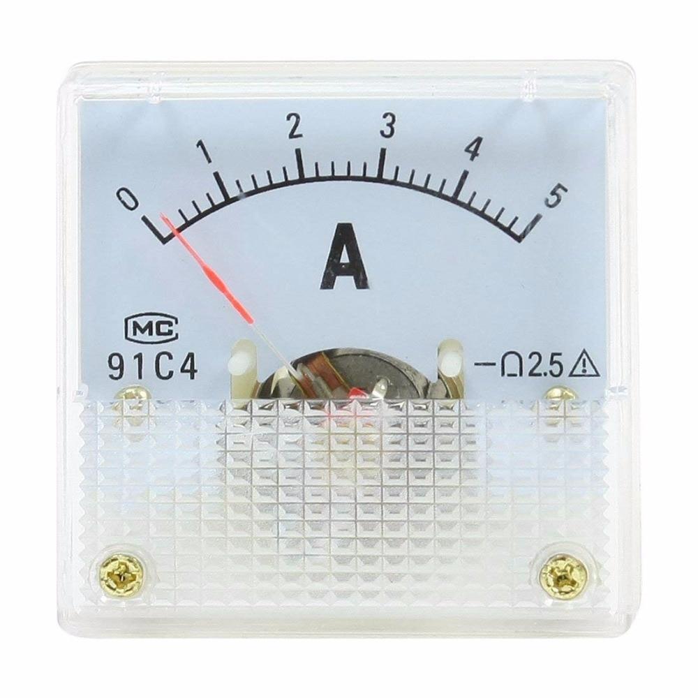Аналоговый амперметр 91C4 DC 5A 10A 15A 20A 30A 50A, панель амперметр, измеритель тока, амперметр со скидкой