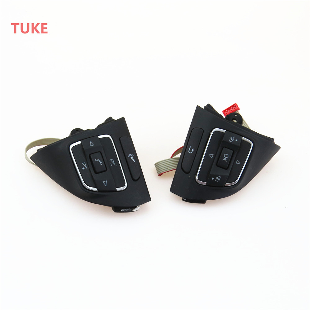 RWSYPL Multifunction Steering Wheel Combination Control Switch 5C0 959 537 A 5C0 959 538 B For