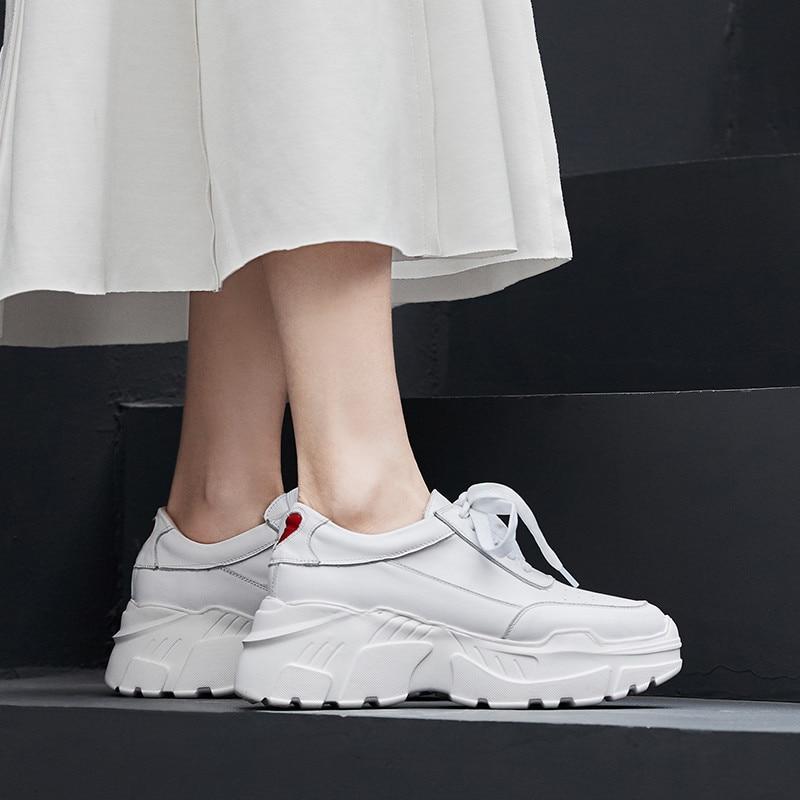 Bout Femme Espadrilles 2019 À Morazora Femmes Semelles Noir En D'été Cuir Compensées Plates Chaussures Décontracté blanc Lacets Nouveau Rond Style Véritable e2YbW9EDHI