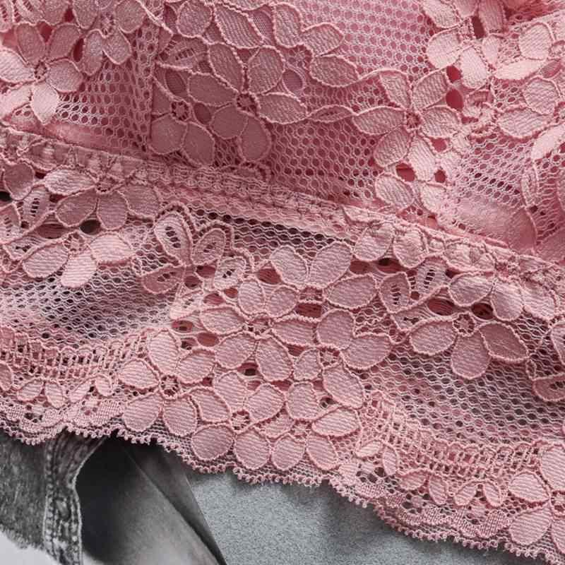 セクシーな女性のレースのブラジャーチューブトップファッションクロス美容バックタンクトップ下着