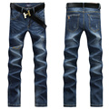 New Brand Men Blue Jeans Pants Hot Selling Slim Full Length Deinm Trousers England Style Personalized Patchwork Jeans UK388