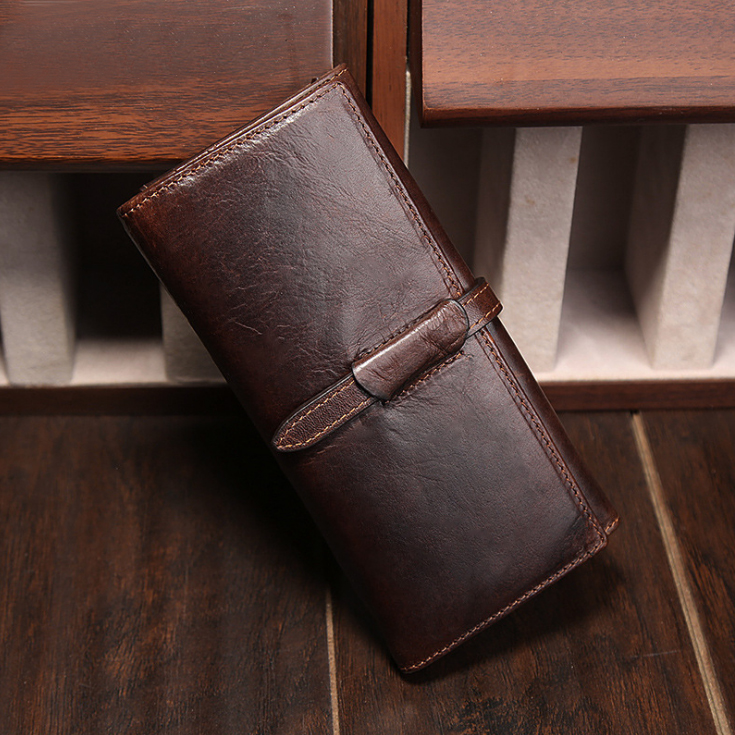 New Luxury Brand 100% Top Genuine Cowhide Leather High Quality Men Long Wallet Coin Purse Vintage Designer Male Carteira Wallets new top cowhide genuine leather men wallet weave long designer male clutch luxury brand zipper coin purse phone bags for gifts