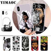 цена на YIMAOC Hip Hop Rapper Dope Print Rubber Soft Silicone Case for iPhone X r s Xr Xs Max 8 7 6S 6 Plus 5 5s SE