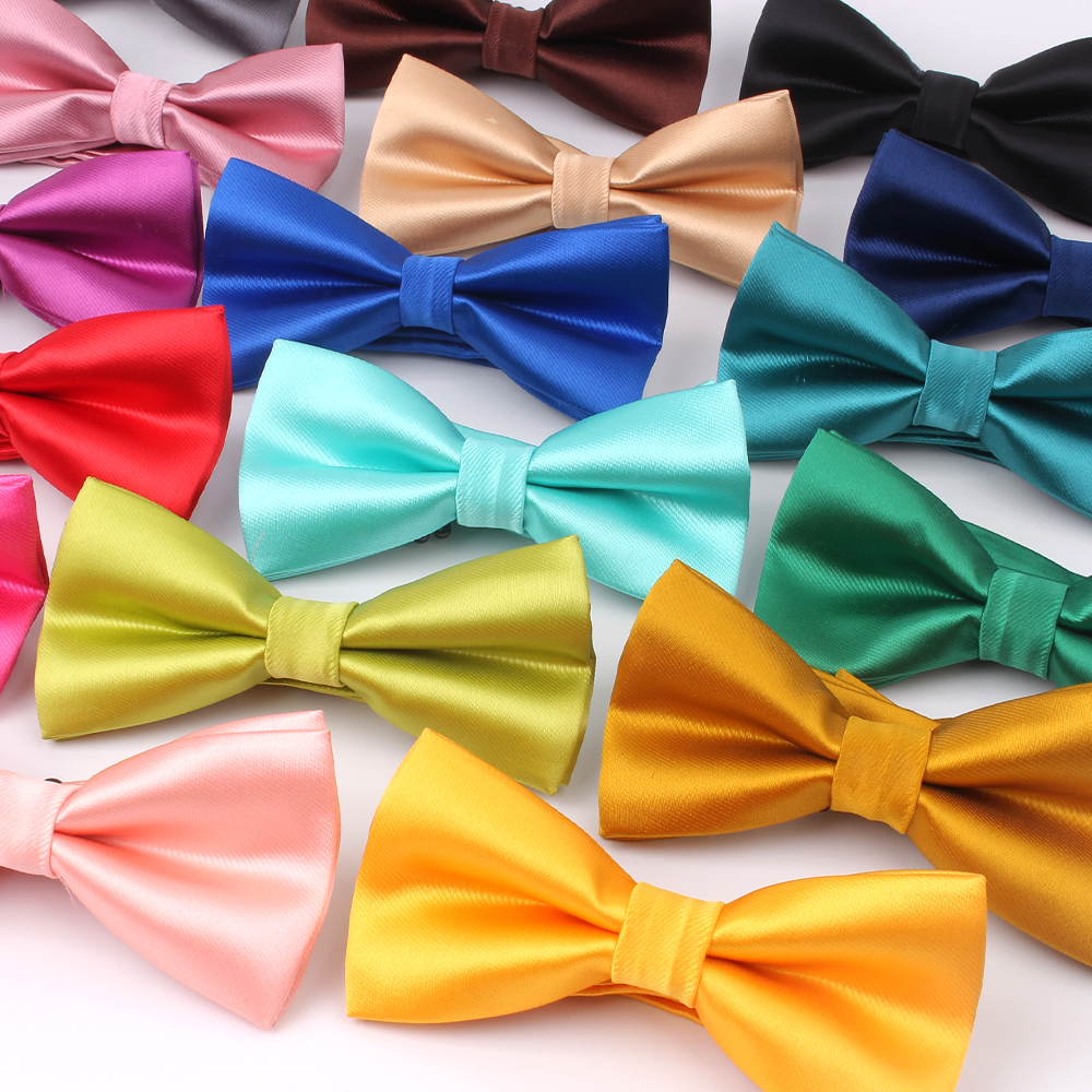 Candy Color Bow Tie Shirts Bowtie For Men Business Wedding Bowknot Adult Solid Bow Ties Butterfly Suits Bowties
