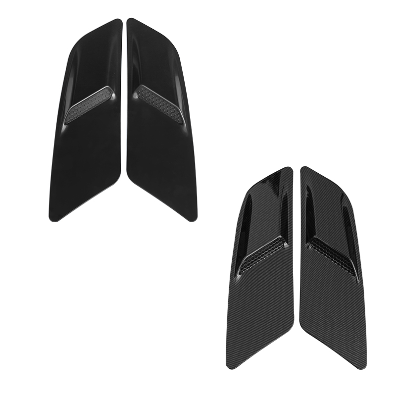 QHCP 1 Pair Car Engine Air Vent Sticker Green ABS Material Car Hood Engine Air Vent Sticker For Ford Mustang Free Shipping-in Car Stickers from Automobiles & Motorcycles    1