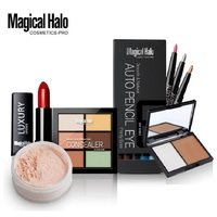Magical Halo Makeup Set Pack Gift Eye Shadow Pencil Shading Powder Contour Palette Lip Stick Bronzer