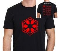Звездные войны, Ситхов товара Для мужчин футболка черный с принтом короткий рукав футболки Бесплатная доставка Бренд Стиль короткий рукав