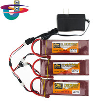 3X RC Drone Batteria 5000mah Lipo 7.4 V 40C XT60 T Plug With Fast Charger 3in1 Cable Set 7.4v For RC Quadcopter Helicopters
