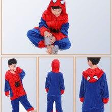 Childrens pajamas unicorn boys girls pijama de unicornio infantil unicorne warm Winter Animal Sleepwear for 4 6 8 10 12 Y
