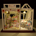 Handmade Doll House Furniture Miniatura Diy Doll Houses Miniature Dollhouse Wooden Toys For Children Grownups Birthday Gift PH2