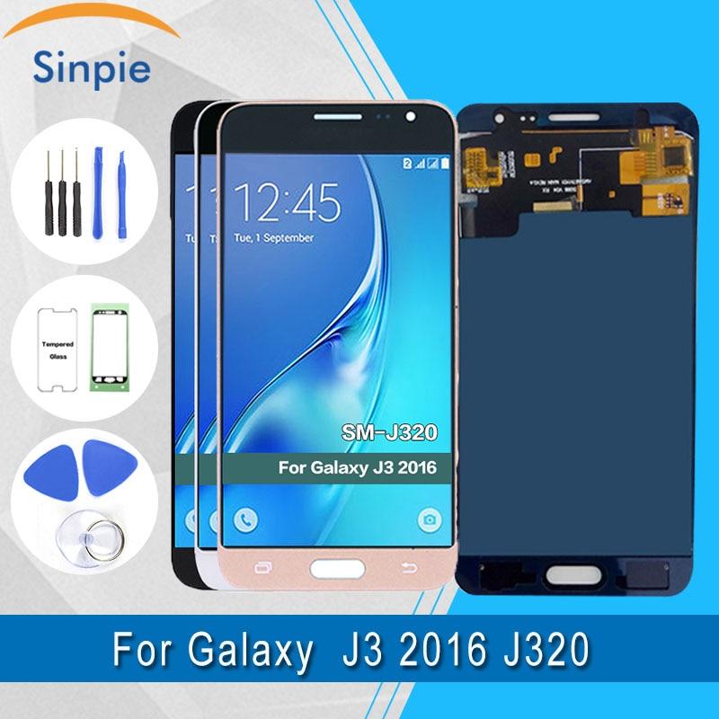 Per Samsung Galaxy J3 2016 J320F Display LCD + Touch Screen Digitizer Assembly 100% tested J320A J320M J320FN LCDPer Samsung Galaxy J3 2016 J320F Display LCD + Touch Screen Digitizer Assembly 100% tested J320A J320M J320FN LCD