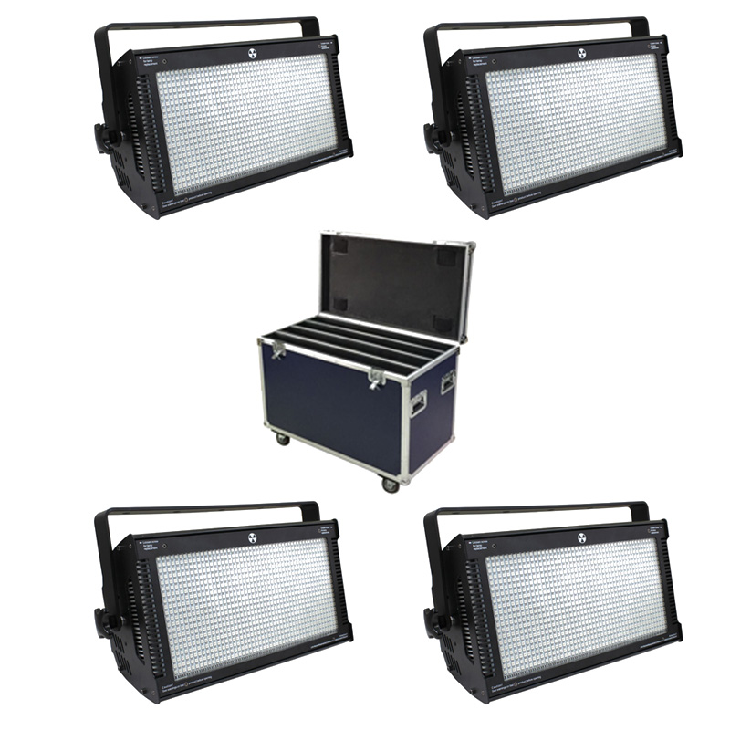 Us 908 98 6 Off With Flightcase 4 Units 1000w Led Rgb Strobe Light 3 Color Atomic 3000 Lighting Stage Party Music Active Effect In