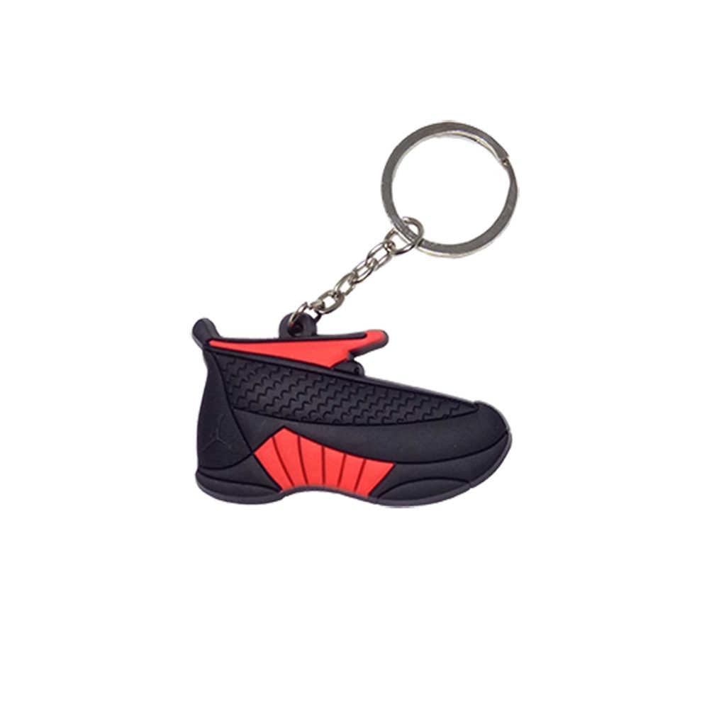 Mini Silicone 15 Sneaker Jordan Keychain Chave Do Carro Cadeia Sapatos Mulher Homens Charme Saco Chave Titular Acessórios Chave Anéis Pingente presentes