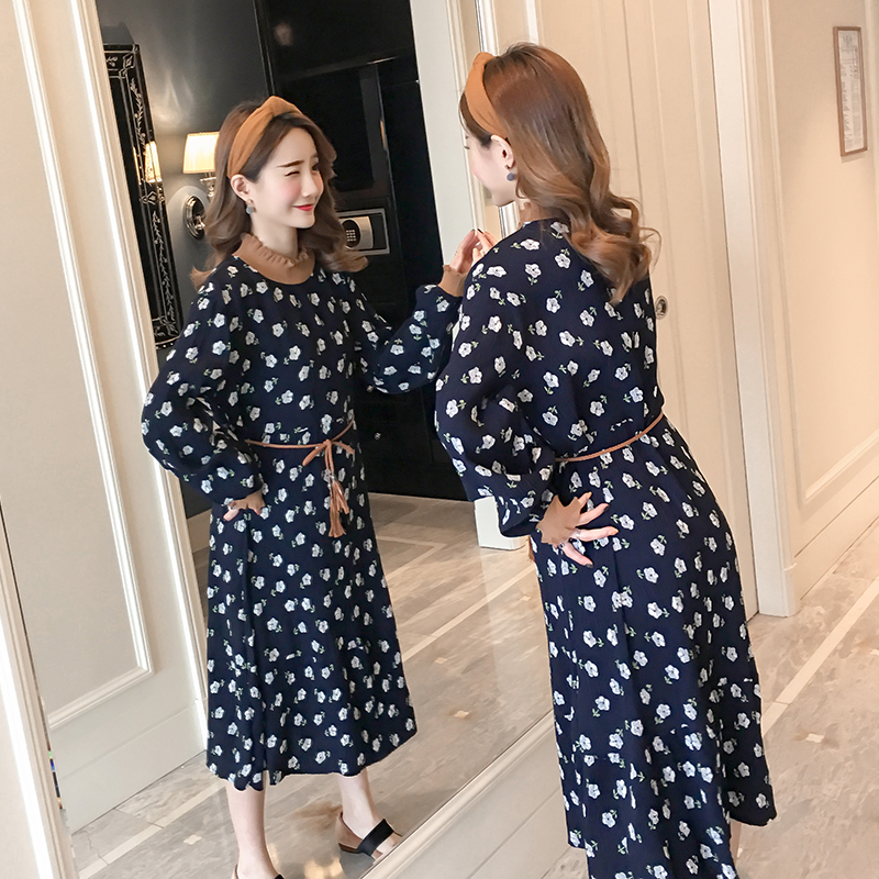 Floral Maternity Clothing Active Pregnancy Dress Cotton Fashion Maternity Clothes Of Pregnant Women 2018 Spring