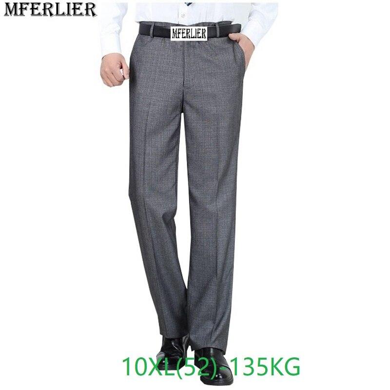 Winter Plus Size Big 8XL 9XL 10XL Suit Pants Men Large Size Classic Pants Autumn Business Formal Office Straight Trousers 50 52