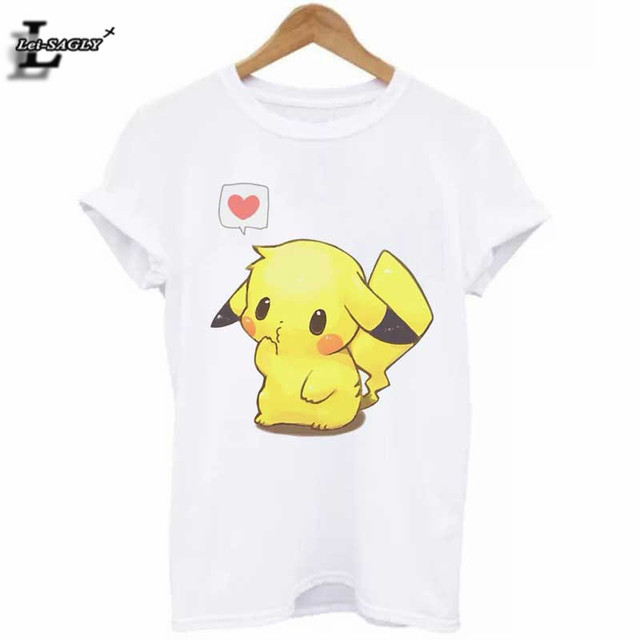 Hot Sale Pokemon Go Pikachu 3D Print T-Shirt Plus Size Cute Casual Elastic  All