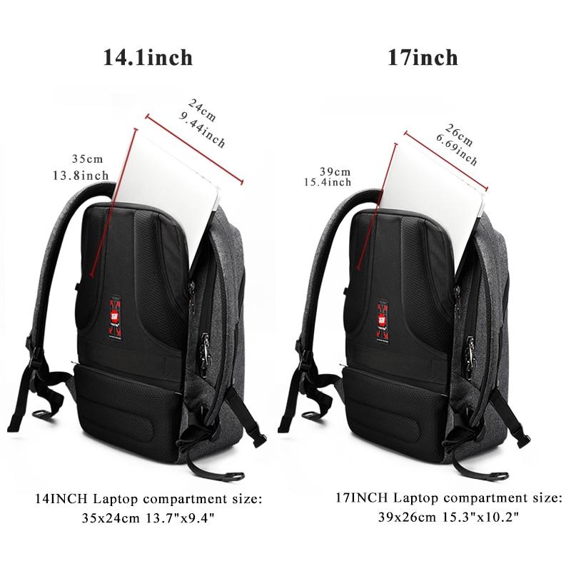 Image 4 - Tigernu Brand USB Charging Backpacks Men Light Slim Minimalist  Fashion Women Backpack school bag 14  17 Laptop Backpackcharging  backpackwomen backpacks school bagbackpack school bag