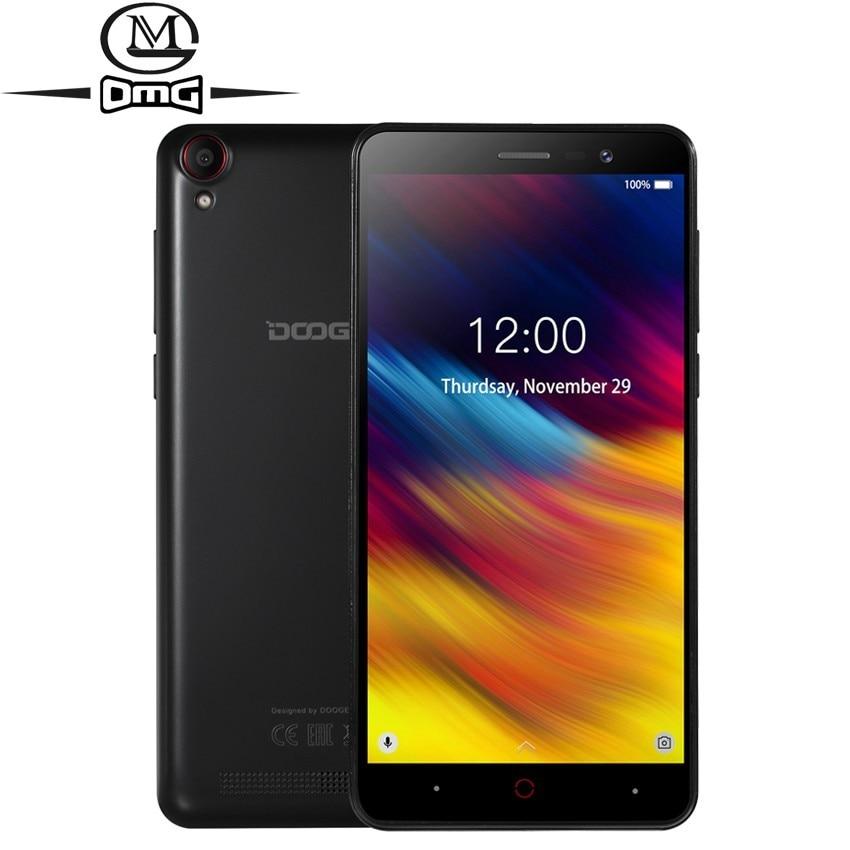 Doogee X100 5.0 pouces téléphone portable Android 8.1 3G Smartphone 4000mAh MTK6580 Quad Core téléphones 5.0mp double SIM déverrouiller téléphone mobile