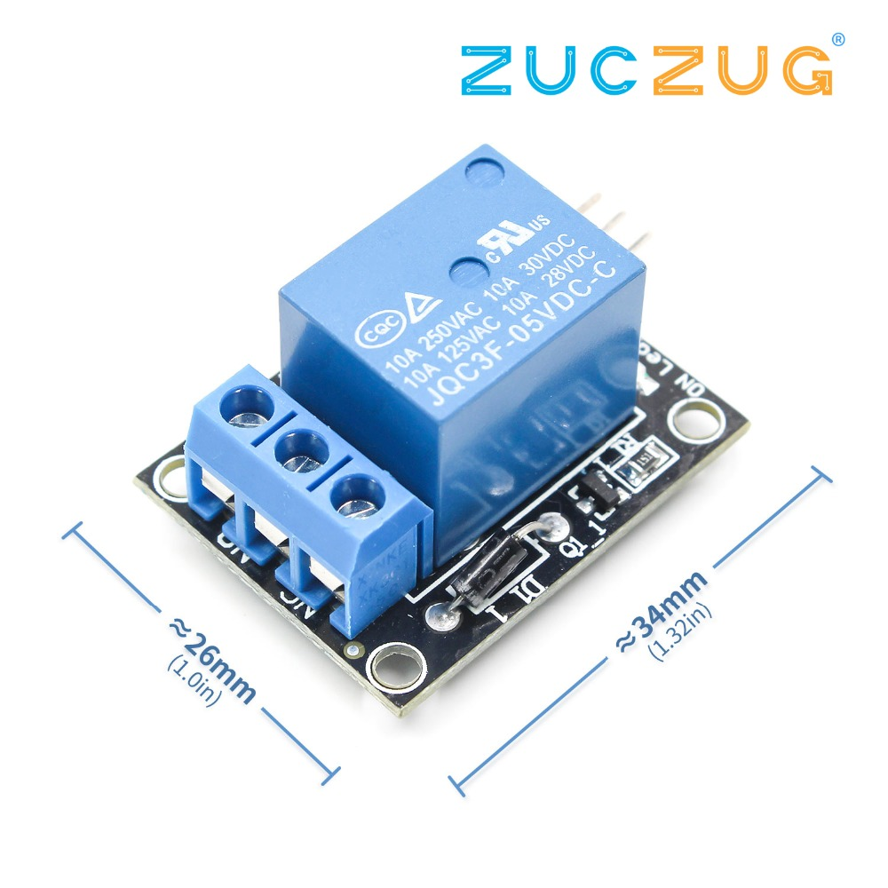 1pcs KY-019 5V One 1 Channel Relay Module Board Shield For PIC AVR DSP ARM Relay