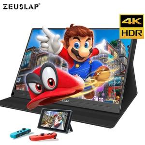 Image 2 - Monitor portátil de 15,6 pulgadas 4K + HDR NTSC 72% IPS, USB C HDMI para Switch Xbox One PS4