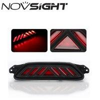 NOVSIGHT 자동차 LED 브레이크 꼬리 빛 후면 범퍼 안개 램프 DRL 경고 빛 도요