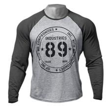 Men Long sleeves cotton t shirt autumn style raglan sleeve casual fashion clothing Slim fit elasticity