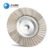 Z LION Diamond Flap Disc 4 Inch M14 Or 5/8 11 Thread Metal Adapter Diamond Electroplated Grinding Wheel Flap Disc Abrasive Tool