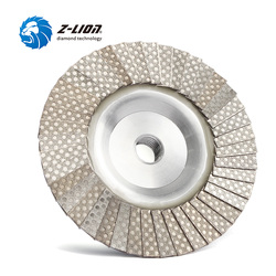 Z-LION Diamond Flap Disc 4 Inch M14 Or 5/8-11 Thread Metal Adapter Diamond Electroplated Grinding Wheel Flap Disc Abrasive Tool