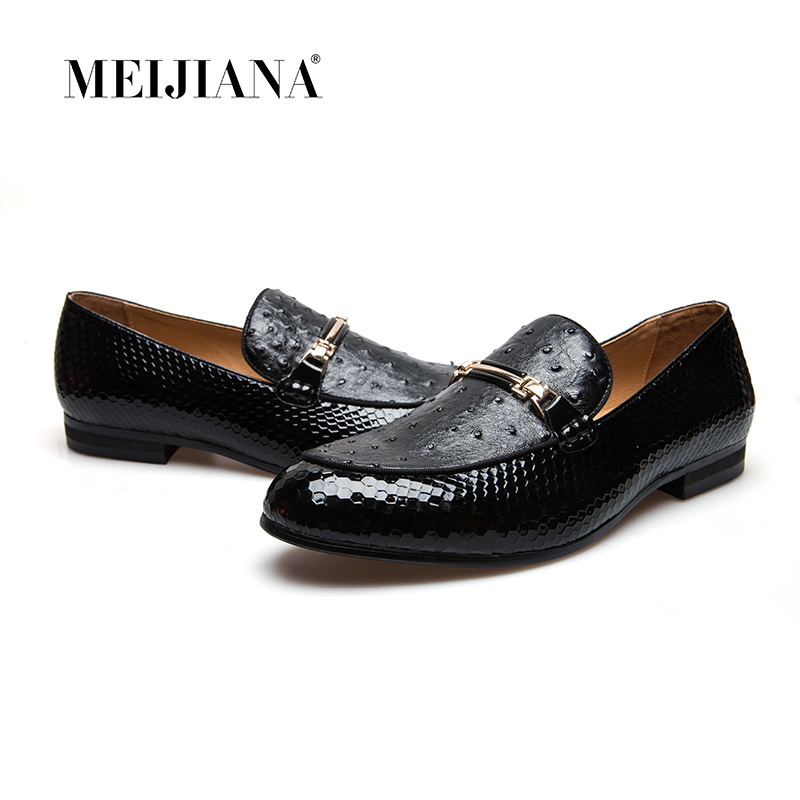 MeiJiaNa Men Shoes Brand Casual Leather Black Men Shoes Luxury Brand Loafers-in Men's Casual Shoes from Shoes    1