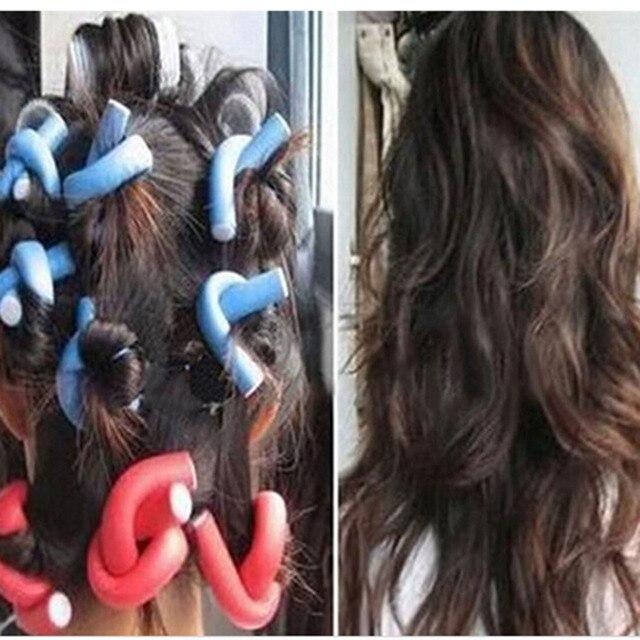 10pcs Soft Foam Sponge Hair Curler Roller Curl Bendy Twist Hair Diy