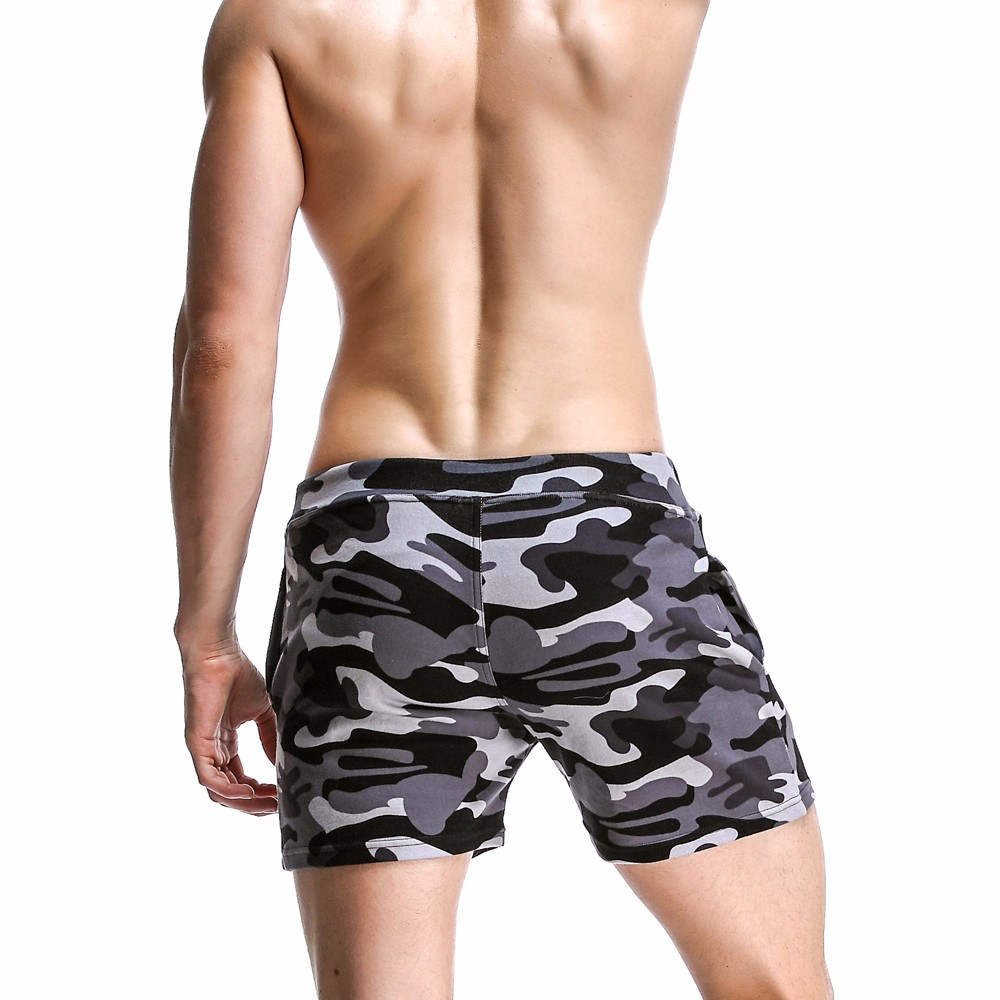 New Fashion Cotton Men\'s Jogger Short Leisure Workout Short With Pocket Casual Camouflage Elastic Waist Home Lounge Shorts PF73 (6)